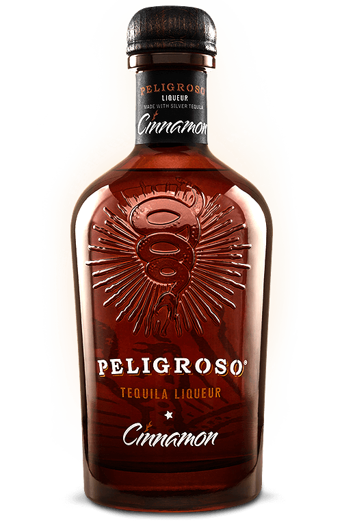 Bottle of Peligroso Cinnamon Tequila