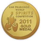 San Francisco World Spirit competition - 2011 Gold Medal